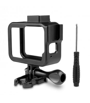 Carcasa Frame / Skeleton Din Aluminiu Compatibila GoPro Hero 8 Black + Cold Shoe Mount