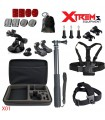Seturi accesorii Set 22 Accesorii Gopro, Selfie Stick, Ventuza, Geanta de transport X01 Xtrems Xtrems.ro