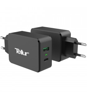 Incarcator Tellur 1 x Port QuickCharge 3.0 + 1 x Port Type-C + Suport Universal Cadou