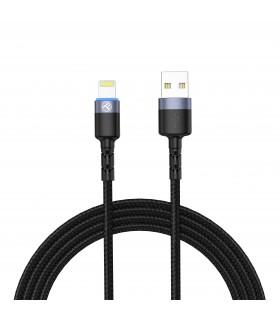 Cabluri Lightning Cablu Tellur Lightning cu LED, nailon, 1.2m Tellur Xtrems.ro
