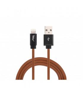 Cabluri Lightning Cablu de date Tellur USB - Lightning Mfi piele naturala 1m, 2.4A Tellur Xtrems.ro