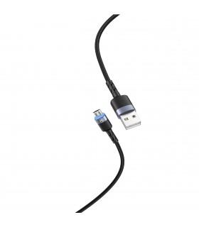 Cabluri Micro USB Cablu Tellur Micro USB cu LED, nailon, 1.2m Tellur Xtrems.ro