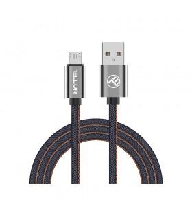 Cabluri Micro USB Cablu Denim Tellur Micro-USB, 1m, albastru Tellur Xtrems.ro