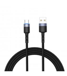 Cabluri Type-C Cablu Tellur Type-C cu LED, nailon, 1.2m, negru Tellur Xtrems.ro