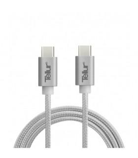 Cabluri Type-C Cablu de date Tellur Type C to Type C metalic Silver Tellur Xtrems.ro