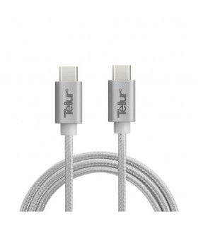 Cablu de date Tellur Type C to Type C metalic Silver