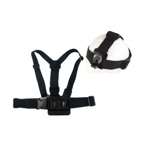 A breast strap+B helmet for Gopro