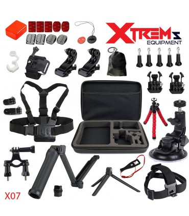 Set 34 accesorii compatibile Gopro - Geanta Xl, Selfie Stick, Ventuza Mare,Tripod