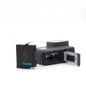Baterie Telesin Compatibila Gopro Hero 5,6,7,8 Black, 3.85V, 1220 mAh, Inregistare indelungata