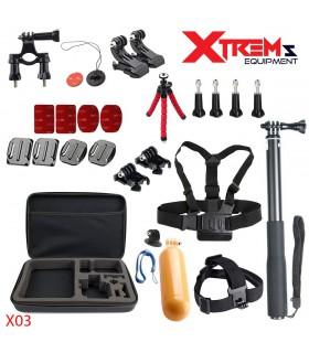 Set 26 Accesorii compatibile Gopro,Trepied Octopus,Selfie Stick, Geanta, Ham piept X03