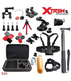 29 Accesorii compatibile Gopro ,Sjcam,Xiaomi, Geanta XL, Ventuza Parbriz, Bobber X04