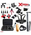 Seturi accesorii 29 Accesorii compatibile Gopro ,Sjcam,Xiaomi, Geanta XL, Ventuza Parbriz, Bobber X04 Xtrems Xtrems.ro