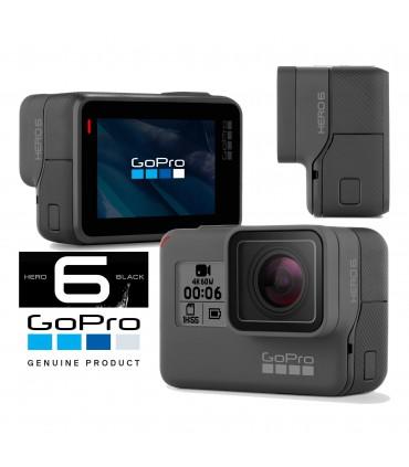 Cameră Sport Gopro Hero 6 Black , 4k@60 Fps, Comenzi Vocale, Touch Zoom