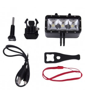 Lanterne Lanterna led subacvatica camera sport - Compatibila Gopro, Sjcam, Xiaomi, Sony Xtrems Xtrems.ro