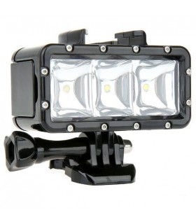 Lanterna led subacvatica camera spor - Gopro, Sjcam, Xiaomi, Sony