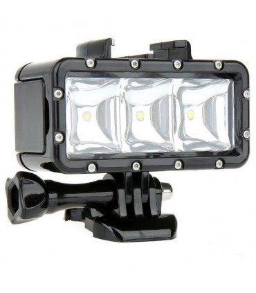 Lanterna led subacvatica camera sport - Compatibila Gopro, Sjcam, Xiaomi, Sony
