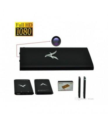 Baterie externa cu camera ascunsa Full HD 1080P cu senzor de mişcare şi Night Vision