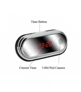 Ceas de birou oglinda cu camera ascunsa Full HD 1080P şi Detecţie la Mişcare
