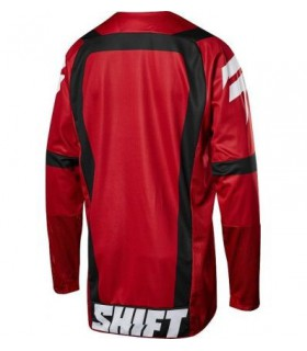 Tricouri TRICOU SHIFT 3LACK STRIKE JERSEY NEGRU/ROSU Shift Xtrems.ro