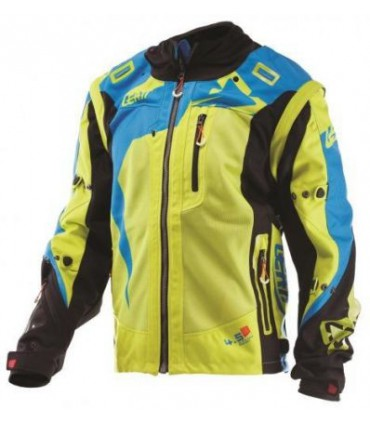 GEACA LEATT GPX 4.5 X-FLOW [LIME/BLU]
