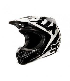 Casca FOX V1 Race Helmet ALB/NEGRU