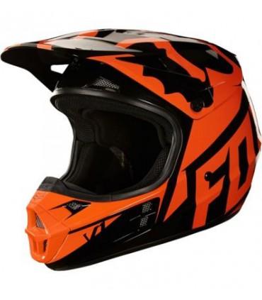 Casca FOX V1 Race Helmet NEGRU/PORTOCALIU