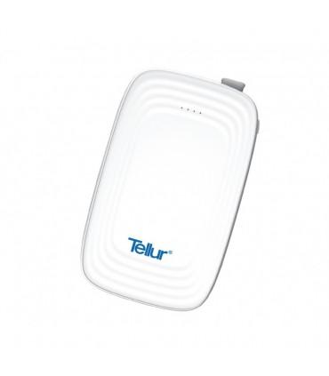 Baterie Externa Tellur Slim 3 in 1 - 5000 mAh Alb
