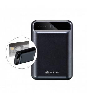 Baterie externa Tellur 10000mAh compacta, negru