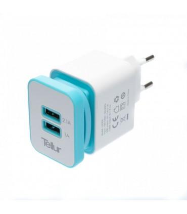 Incarcator de priza TELLUR dual USB - cablu Micro USB