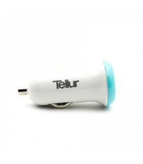 Incarcatoare Incarcator auto Tellur dual USB C206 - 2.4A, Alb/Albastru Tellur Xtrems.ro