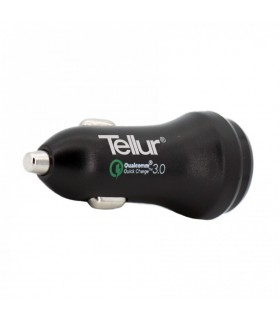 Incarcatoare Incarcator auto TELLUR Quick Charge 3.0 (QC 3.0 + 2.4A), Negru Tellur Xtrems.ro