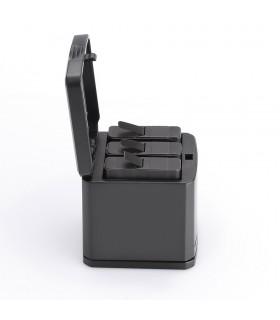 Set Incarcarcator Tip Cutie 3 slot-uri si 2 baterii Gopro 5 6 7 Black