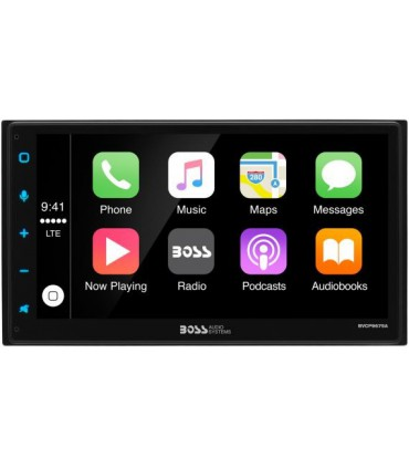 """Boss Audio sitem multimedia 4x80W touchscreen 6,75"""" Apple CarPlay & Android Auto, Double-Din"""