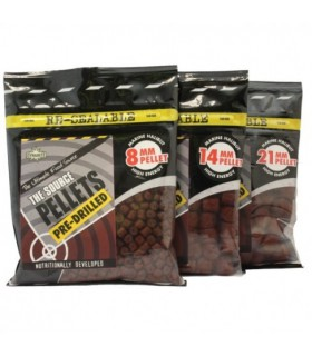 Dynamite Baits Source Pellets -14mm Pre-Drilled 350g
