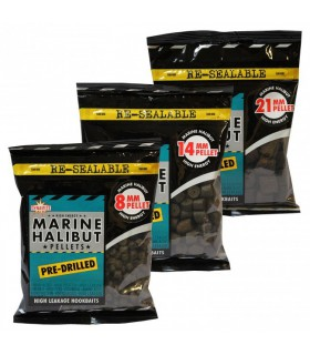 Dynamite Baits Marine Halibut Pellets - 14mm Pre-Drilled 350g