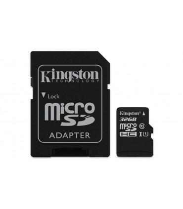 Card de memorie Kingston 32GB MicroSDHC Canvas Select 80R, Class 10, UHS-I + Adaptor SD