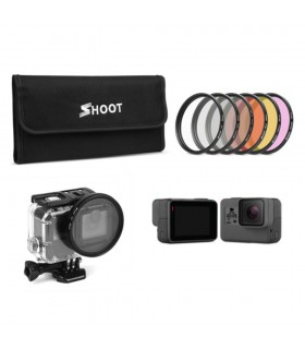 Accesorii Set 6 Filtre Compatibile Camerele Video Sport Gopro Hero 5 si 6 Xtrems Xtrems.ro