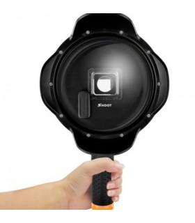 """Dome 6"""" Subacvatic + Grip Compatibil Gopro 5/6/7 Black"""