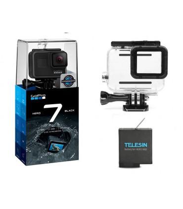 Pachet Promo 1 - Gopro Hero 7 - Camera, Carcasa Subacvatica, Baterie Compatibile