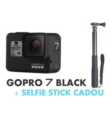 GoPro Hero 7 Black + Selfie Stick Aluminiu 96 cm Cadou