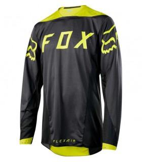 Tricouri Tricou FOX FLEXAIR LS MOTH JERSEY [BLK/YLW] Fox Xtrems.ro