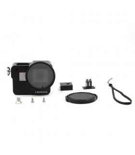 Carcase/Protectii Carcasa Din Aluminiu CNC Compatibila Camerele Gopro Hero 5, 6 si 7 Black + Filtru UV Xtrems Xtrems.ro