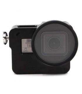 Carcasa Din Aluminiu CNC Compatibila Camerele Gopro Hero 5, 6 si 7 Black + Filtru UV