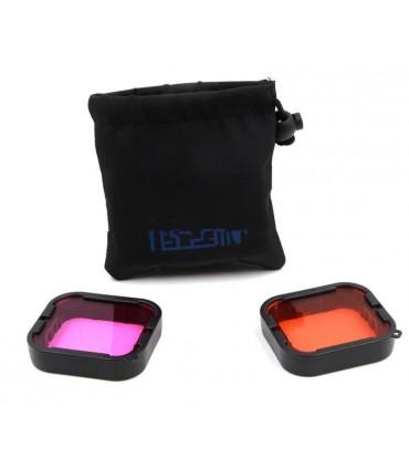 Set de 2 filtre, rosu si purpuriu subacvatic compatibile Gopro Hero 5, 6 si 7 Black