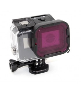 Set de 2 filtre, rosu si purpuriu subacvatic pentru Gopro Hero 5, 6 si 7 Black