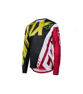 Tricouri Tricou FOX MTB-JERSEY DEMO LS JERSEY BLACK/YELLOW Fox Xtrems.ro