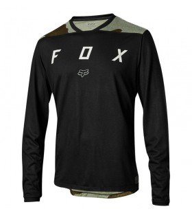 Tricouri Tricou FOX INDICATOR LS MASH CAMO JERSEY [BLK] Fox Xtrems.ro