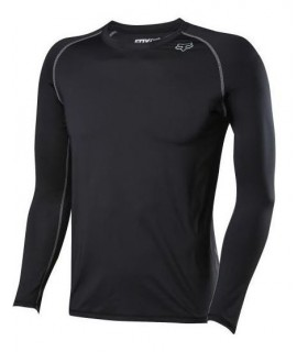 Tricou FOX MTB-JERSEY FREQUENCY LS BASE LAYER BLACK