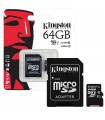 Carduri memorie Card de memorie Kingston 64GB MicroSDHC Canvas Select 80R, Class 10, UHS-I + Adaptor SD Kingston Xtrems.ro