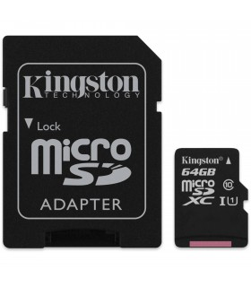 Mai mult despre Card de memorie Kingston 64GB MicroSDHC Canvas Select 80R, Class 10, UHS-I + Adaptor SD